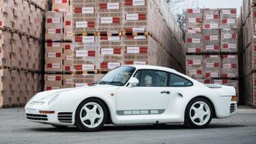 White 1988 Porsche 959 Sport