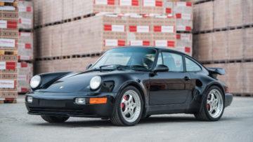 Black 1994 Porsche 911 Turbo S 3.6