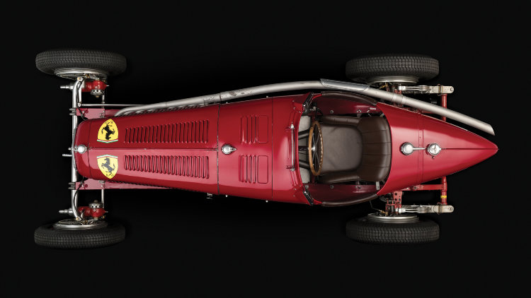 1934 Alfa Romeo Tipo B P3 From Above