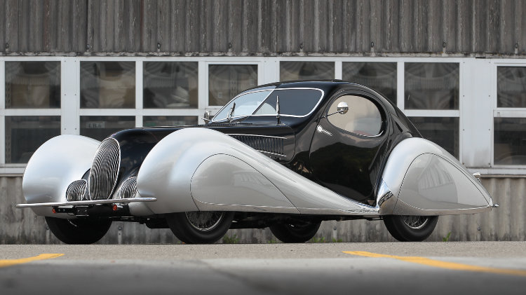 1937 Talbot-Lago T150-C SS Coupe front quarter