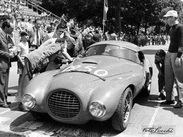 1950 Ferrari 166 MM 212 Export Uovo at the 1952 Coppa Toscana