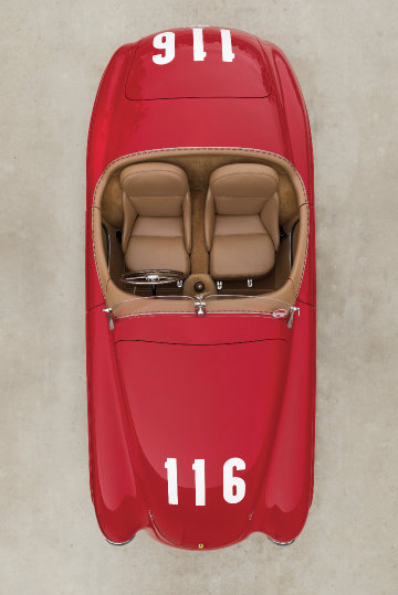 1950 Ferrari 166 MM from above