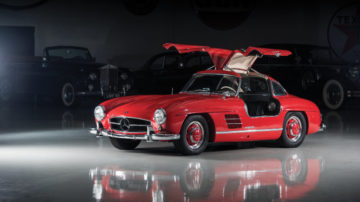 Red 1957 Mercedes-Benz 300 SL Gullwing