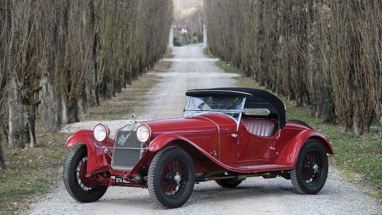 1930 Alfa Romeo 6C 1750 GS Spider 4th Series front quarter