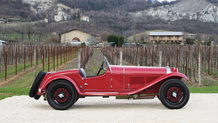 1930 Alfa Romeo 6C 1750 GS Spider 4th Series Profile