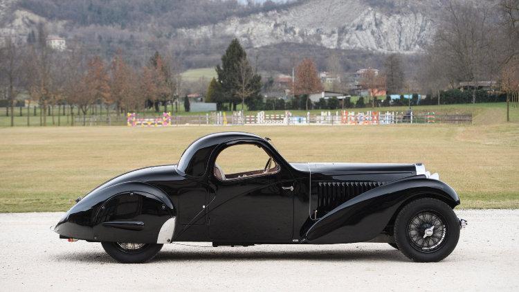 1937 Bugatti Type 57 Atalante Prototype Profile