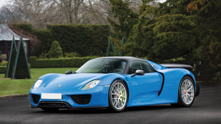 Arrow Blue 2015 Porsche 918 Weissach Spyder