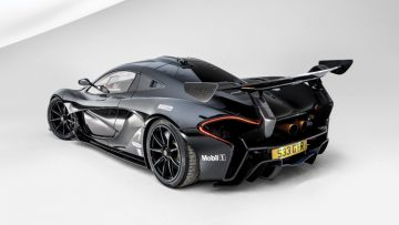 Black 2016 McLaren P1 GTR Rearview
