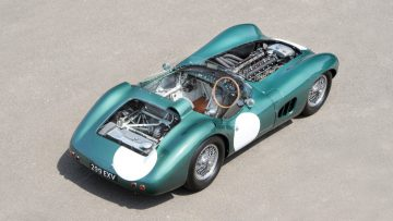 1956 Aston Martin DBR1/1 engine covers off
