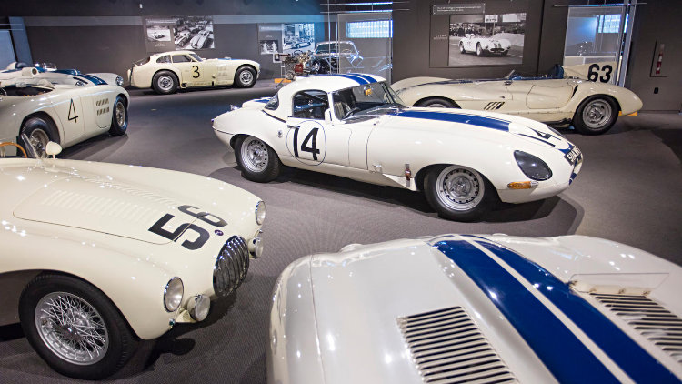 1963 Jaguar E-Type Lightweight Competition Coupe in Museum