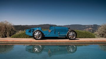 1925 Bugatti Type 35C Grand Prix Side Profile