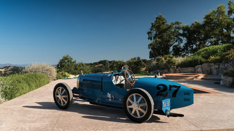 1925 Bugatti Type 35C Grand Prix side rear