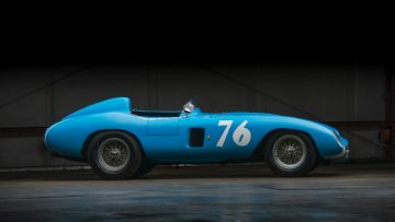 1955 Ferrari 121 LM Spider by Scaglietti profile
