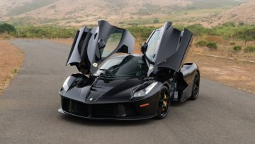 Black 2015 Ferrari LaFerrari Doors Open