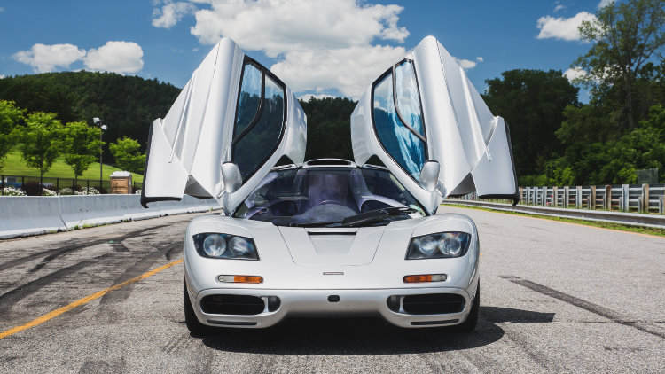 1995 McLaren F1 Doors Open from Front