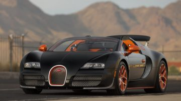 Black & Orange 2015 Bugatti Veyron Grand Sport Vitesse