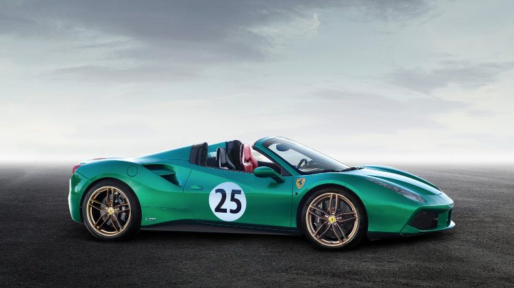 2016 Ferrari 488 Spyder Green Jewel