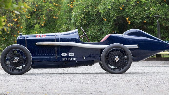 Bothwell 1913 Indianapolis Peugeot Grand Prix Side Profile