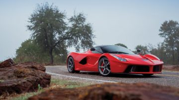 Red 2014 Ferrari LaFerrari