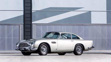 London 1964 Aston Martin DB5 4 2-Litre Sports Saloon front quarter