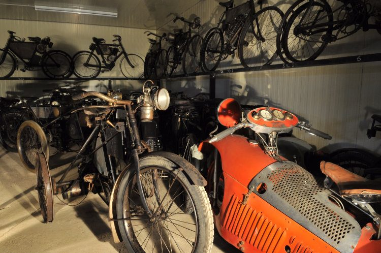 View of the prewar motorcycle collection