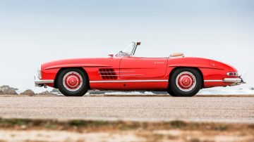 Red 1958 Mercedes-Benz 300SL Roadster