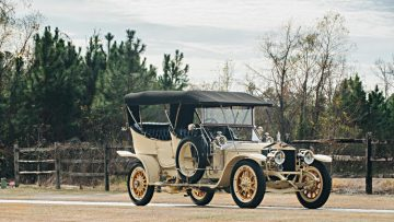 """1909 Rolls Royce Silver Ghost Roi des Belges """"The Silver Fairy"""" in the style of Barker, estimate $1,000,000 - $1,250,000"""