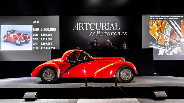 1938 Bugatti 57C Atalante Coupe SOLD