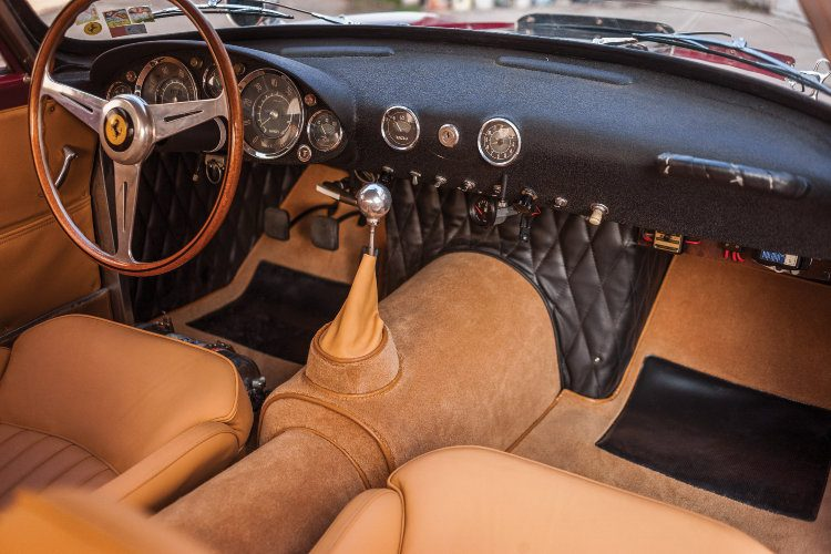 Interior of the 1957 Ferrari 250 GT Berlinetta Competizione 'Tour de France'