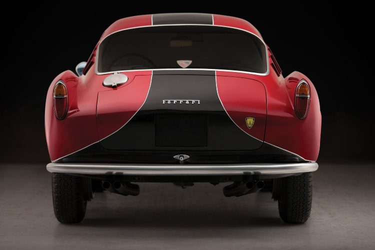 Rear view of the 1957 Ferrari 250 GT Berlinetta Competizione 'Tour de France' by Scaglietti