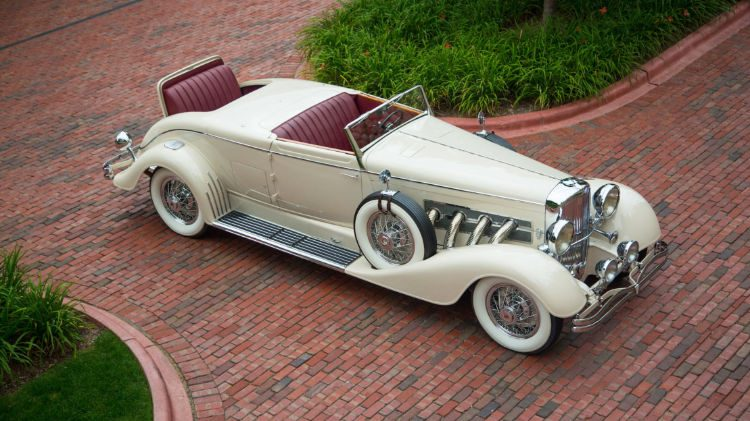 1933 Duesenberg Model J Convertible Coupe Disappearing Top Roadster