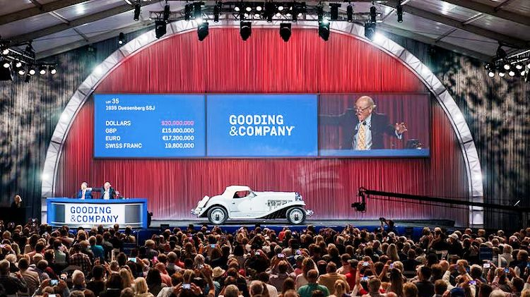 2018 Gooding Pebble Beach Sale Auction Results Top Classic Car