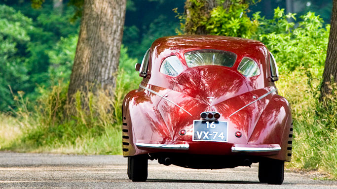 1939 Alfa Romeo 8C 2900B Touring Berlinetta Rear