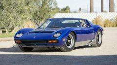 Blue 1971 Lamborghini Miura SV